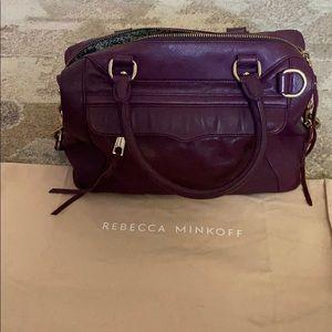 Rebecca Minkoff purple leather regan satchel tote